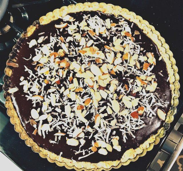 Chocolate Coconut Almond Tart (GF)