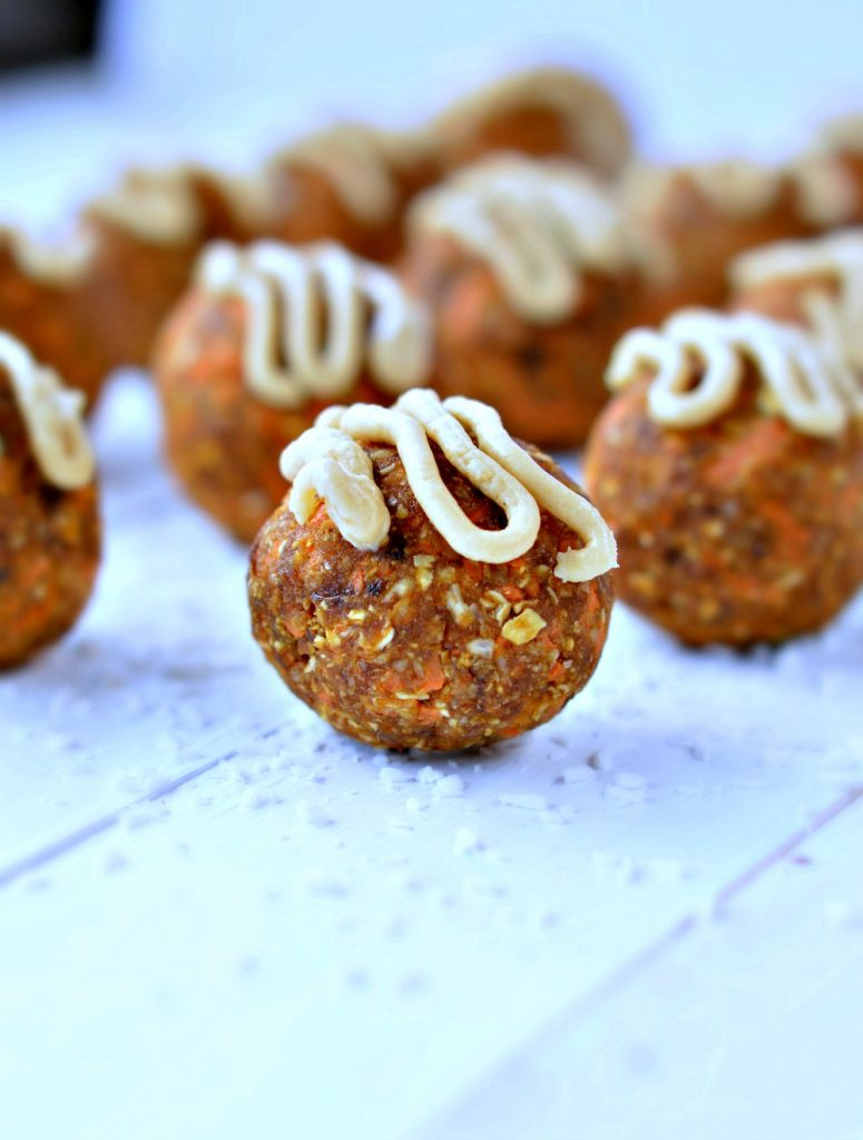 Carrot Cake Protein Balls by Sweet as Honey