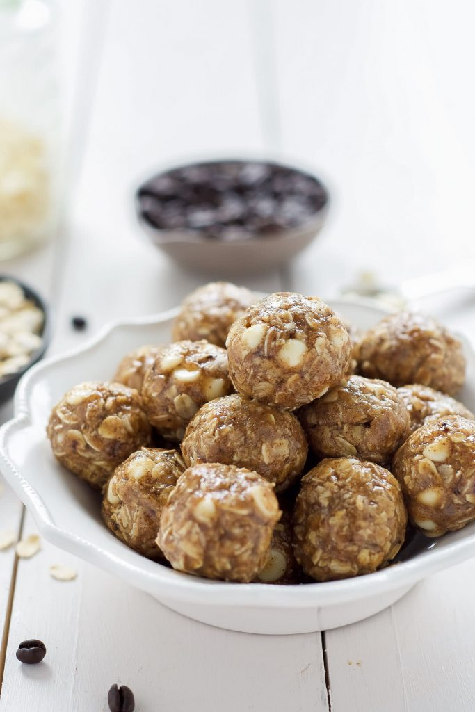 Vanilla Espresso Almond Butter Energy Bites by With Salt and Wit