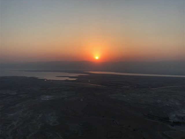 Sunrise atop Mount Masada