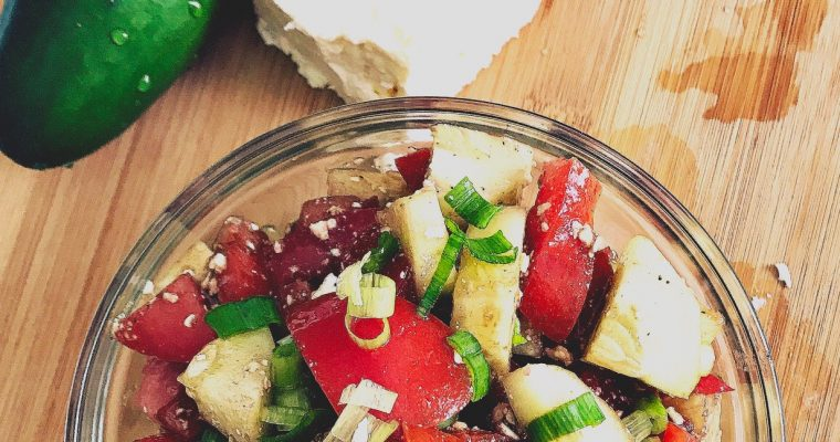 Balsamic Cucumber Tomato Salad