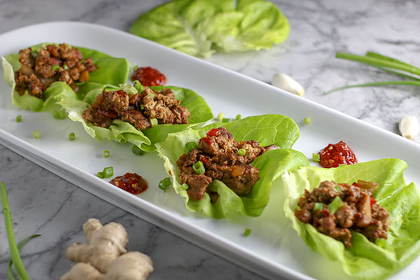 Juicy turkey glazed with sweet hoisin and soy sauce all wrapped with fresh crispy, lettuce. These Asian Turkey Lettuce Wraps are almost as good as take out!