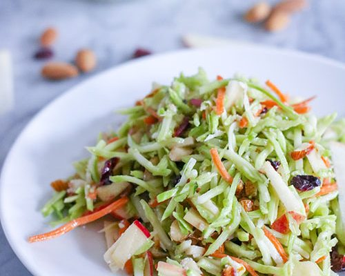 Cranberry, Apple, and Almond Broccoli Slaw (V)