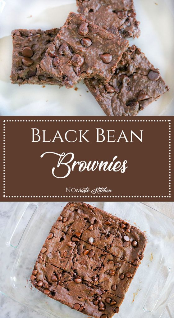 Rich and decadent brownies, packed with small oaty-bits and chocolate chips. You would never even suspect that these fudgy bars are flourless, vegan, and loaded with protein-packed black beans! | NOMaste Kitchen