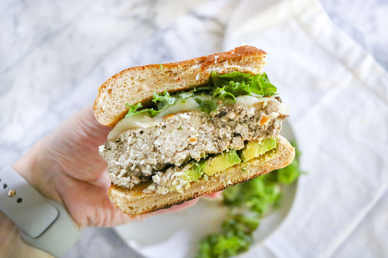 These incredibly EASY Turkey Burgers are deliciously juicy and flavorful. Tasty enough to enjoy plain - yet simple enough to load with unique toppings! | NOMaste Kitchen