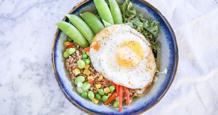 Easy Grain Bowl with Spicy Thai Peanut Sauce
