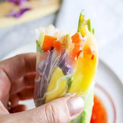 Mango Avocado Summer Rolls