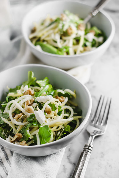 Mint, Feta, and Veggie Noodle Salad | NOMaste Kitchen