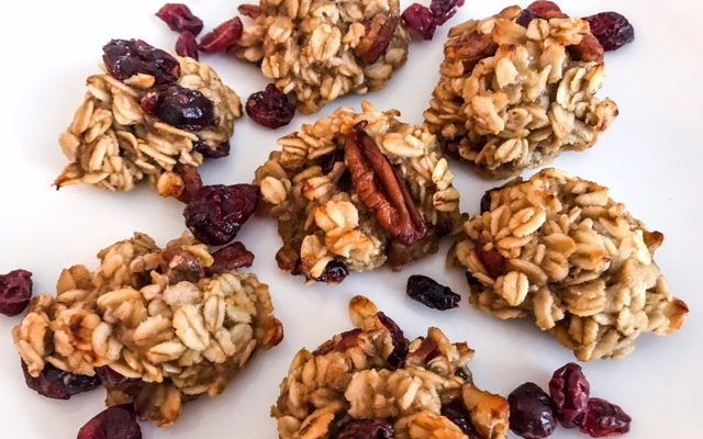 Healthy Cranberry Pecan Oat Cookies