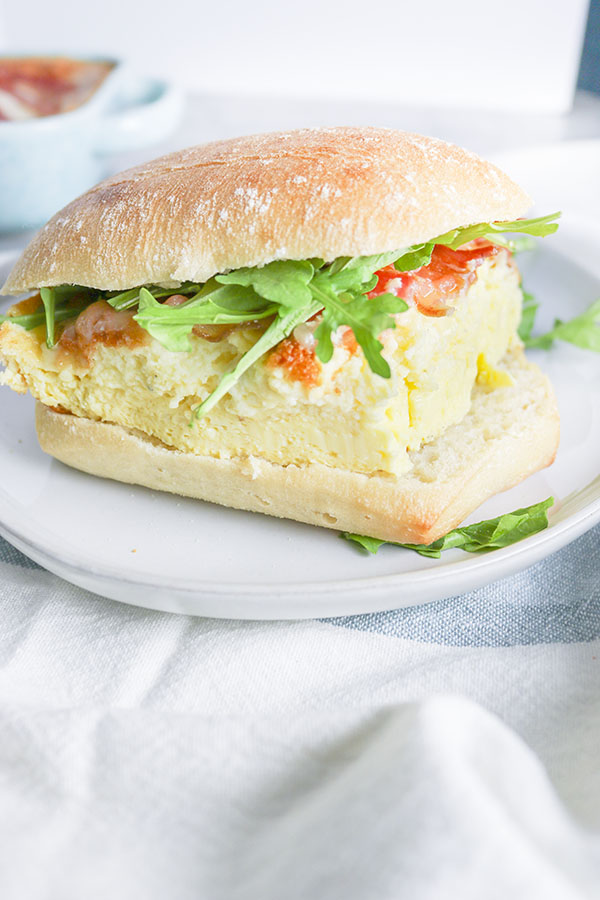 Copycat Fox in the Snow Souffled Egg Sandwich with Bacon and Cheese
