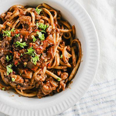 Mushroom and Walnut Vegan Bolognese