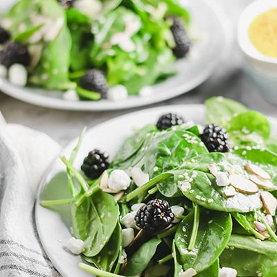 Spinach Salad with Blackberries and Almonds