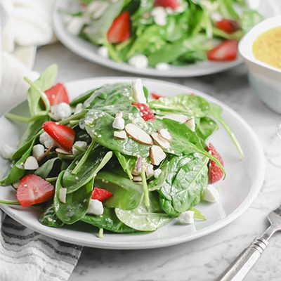 Strawberry Almond Goat Cheese Salad