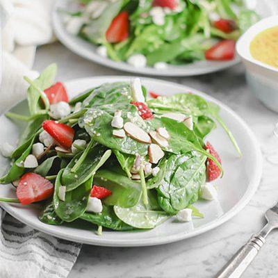 Strawberry Almond Goat Cheese Salad